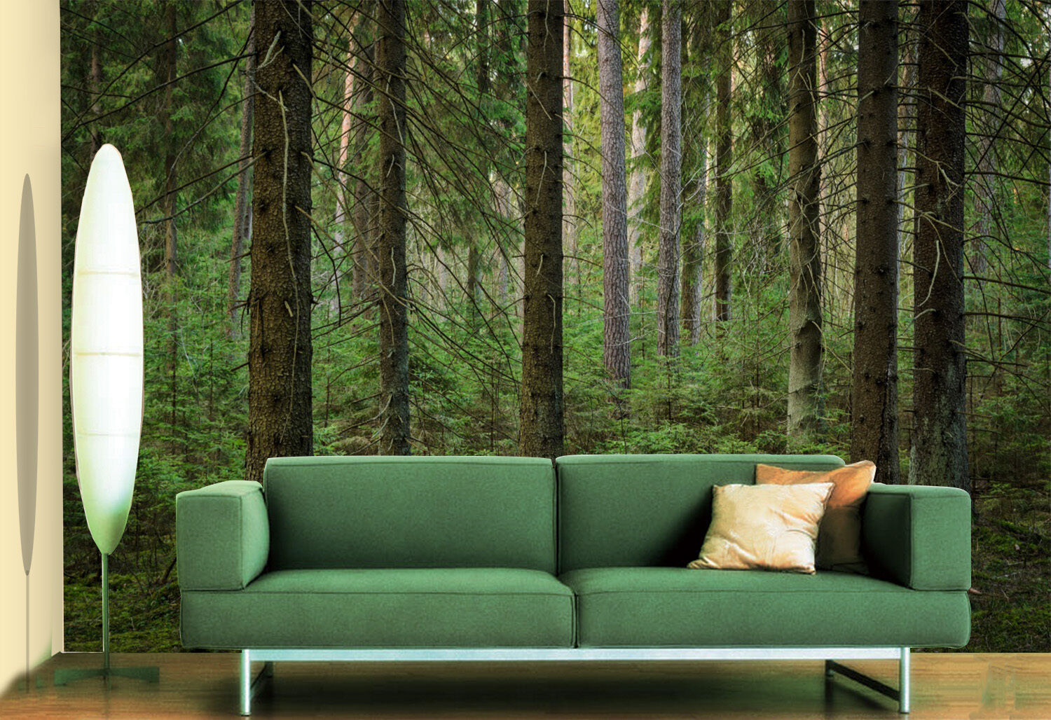 3D trunk green forest wall Paper Print Decal Wall Deco Indoor wall Mural
