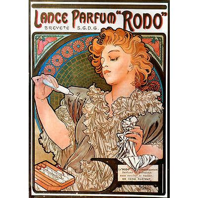 Reproduction Alphonse Mucha Art Nouveau Deco Lance-Parfum Rodo Poster NEW Print