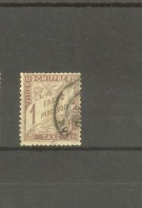 FRANCE-STAMP-TIMBRE-TAXE-N-25-034-TYPE-DUVAL-1F-MARRON-034-OBLITERE-TTB