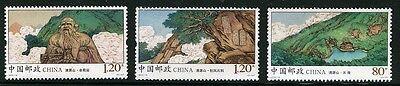 Meter Qingyuan Satz 3 Briefmarken Mnh 2015-14 China #4287-9 Laotse Statue Briefmarken