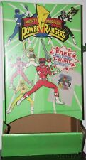 Vintage 1994 Mighty Morphin Power Rangers MMPR T-Shirt Point of Purchase Display