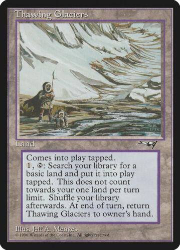 Thawing Glaciers MTG Alliances Magic worn card