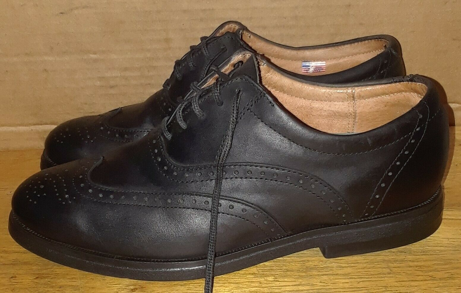 VTG 1990s Plum IE With NIKE AIR Leather Oxford. Sz 9 M Made in THE USA