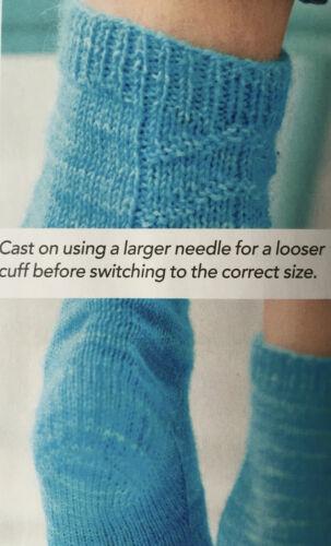 Knitting Pattern femmes texturé à motif cheville chaussettes Slip Stitch Talon 4ply