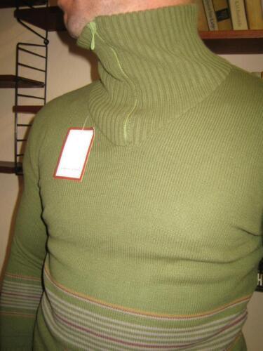 80er vintage Stehkragen '80 Vero Pullover Confezioni maglione Di Lusso Grün anni 1Xdqwvx