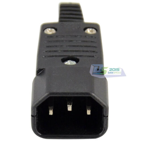 IEC 320 C14 Rewirable Connector Male Plug 10A 250V Power Adapter WD-10 Good