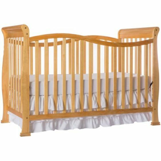 Dream On Me 7 In 1 Convertible Crib Baby Nursery Furniture Natural Finish New