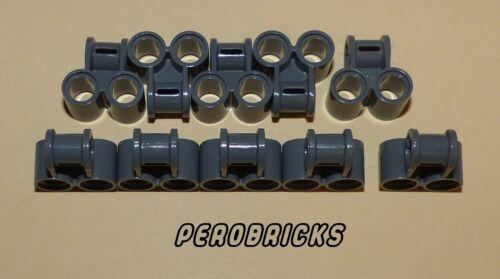 Lego Technic tecnología 10x alineación pin conector #32291 gris oscuro