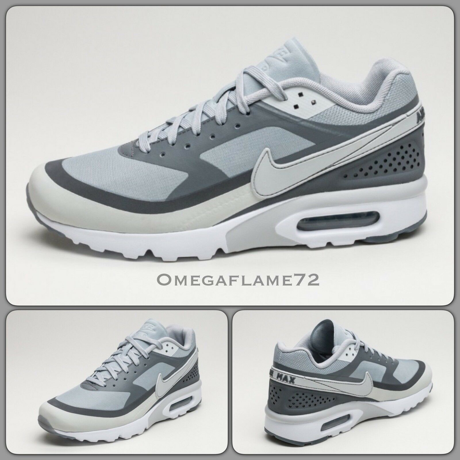 Nike Air Max BW Ultra, 819475-006,8, EU 42.5, US 9, Wolf  Gris , Anthracite