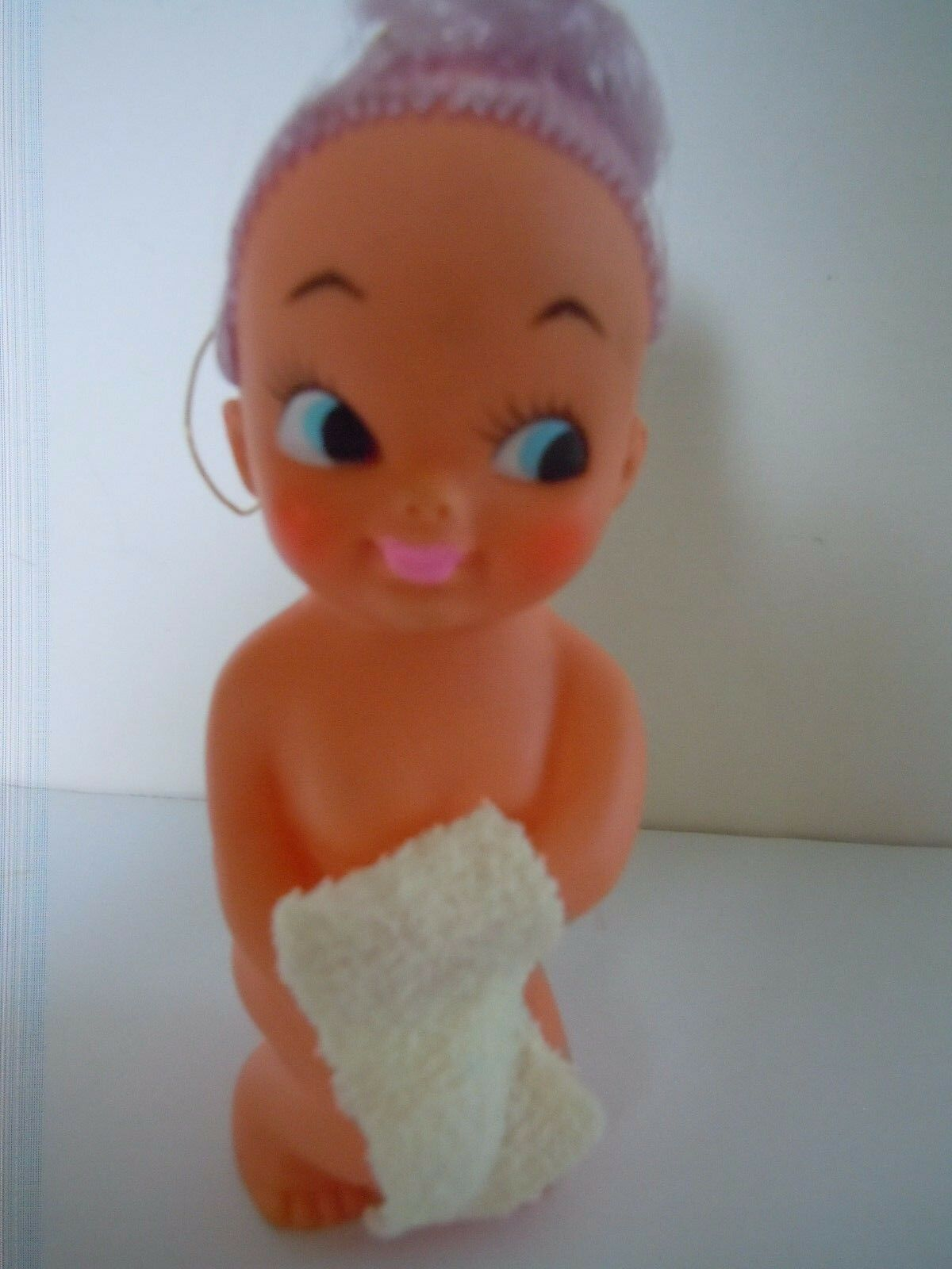 SUPER RARE JAPAN MADE 1960'S-1970'S BIG EYES DOLL SEXY & NAUGHTY NAKED TOWEL L3