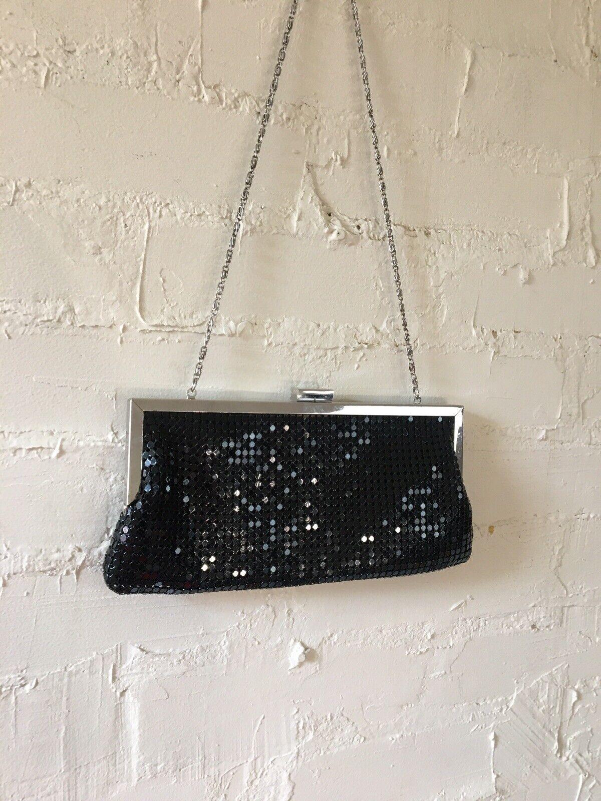 Style & Co Evening Handbag Purse Black Metal