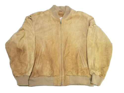 Coach Men's Carmel Brown Suede Leather Bomber Jac… - image 1