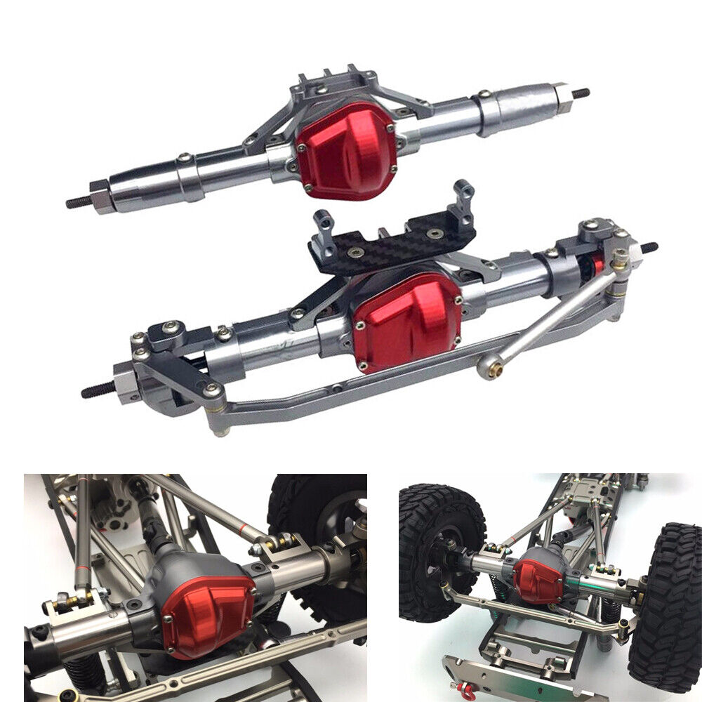 Alloy Complete Front /& Rear Axle Set fr Axial SCX10 1:10 RC Rock Crawler Car
