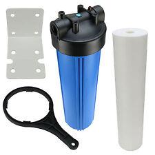Hauswasserfilter 20 Zoll BigBlue Vorfilter Gartenfilter Brunnen + Sedimentfilter