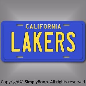 Los-Angeles-LAKERS-California-NBA-Basketball-Team-Aluminum-License-Plate-Tag