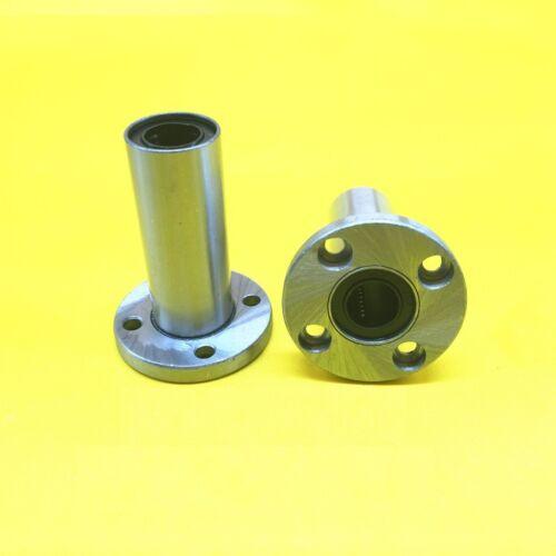 1Pcs LMF25LUU Long Round Flange Linear Motion Bushing Bearing For 25mm Shaft