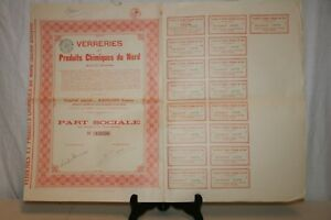 Ancienne Action Verreries Et Produits Chimiques Du Nord De 1896. Alodearv-07221113-538477514