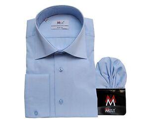 Slim-fit-Herren-Hemd-Muga-276-Gr-M-Mittelblau
