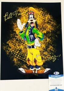 BILL-FARMER-GOOFY-SIGNED-METALLIC-11x14-PHOTO-DISNEY-BECKETT-BAS-COA-258