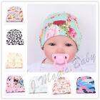 Newborn Baby Cotton Flower Soft Stretchy Hospital Hat Beanie Infant Girl Boy