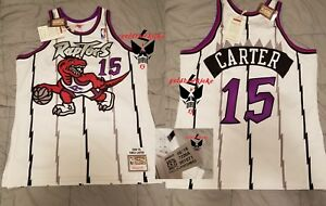 buy popular ceb2d 20f5c Details about AUTHENTIC mitchell and ness VINCE CARTER Toronto Raptors  jersey 48 VC M&N