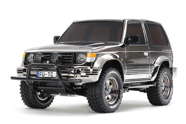 TAMIYA 47375 PAJERO negro Metallico RC Kit-Accordo Bundle con steerwheel Radio
