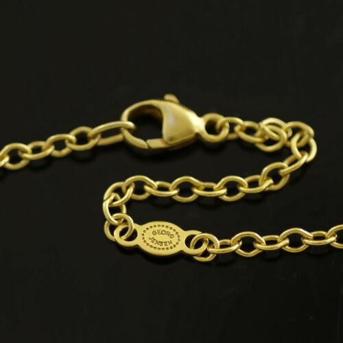 "Georg Jensen Gilded Silver Anchor Chain 42 cm.// 16.5/"""