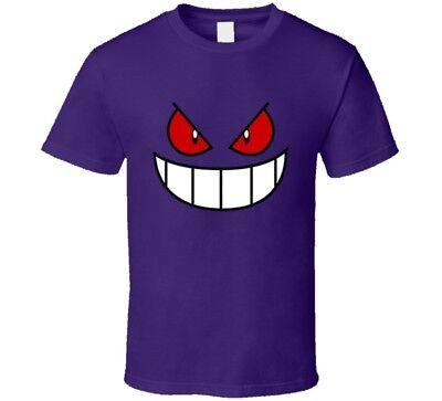 Gengar KAIJU Pokemon Style T-Shirt MULTI COLOR 100/% Cotton Worldwide Shipping