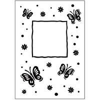 Embossing Folder Butterfly Frame Fits Standard Machines