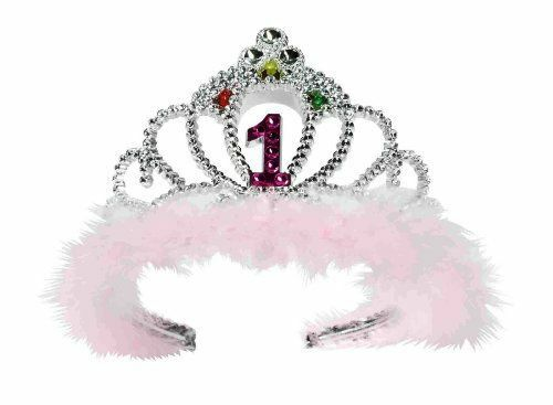 Flashing Birthday Tiara First 1st One Year Old Princess Girl Bling Party NEW