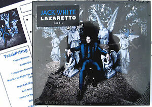 JACK-WHITE-CD-Lazaretto-11-Track-NEW-2014-Album-WHITE-STRIPES-Promo-Sheet