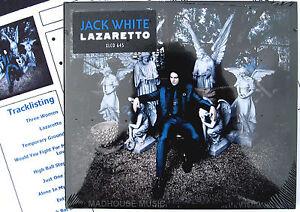 JACK-WHITE-CD-Lazaretto-11-Track-NEW-2014-Album-WHITE-STRIPES-Promo-Sheet