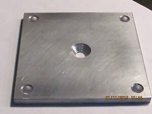"6"" X 6"" X 1/4"" Base / Mounting Plate - Deck - Drilled 5/16"" Aluminum 1 PC"