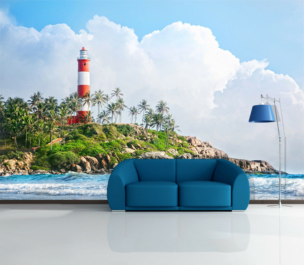 3D Clouds Tower 67 Wallpaper Murals Wall Print Wallpaper Mural AJ WALL AU Lemon