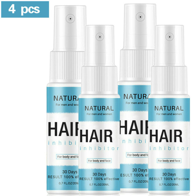 4x Permanent Hair Removal Spray Stop Hair Growth Inhibitor Remover