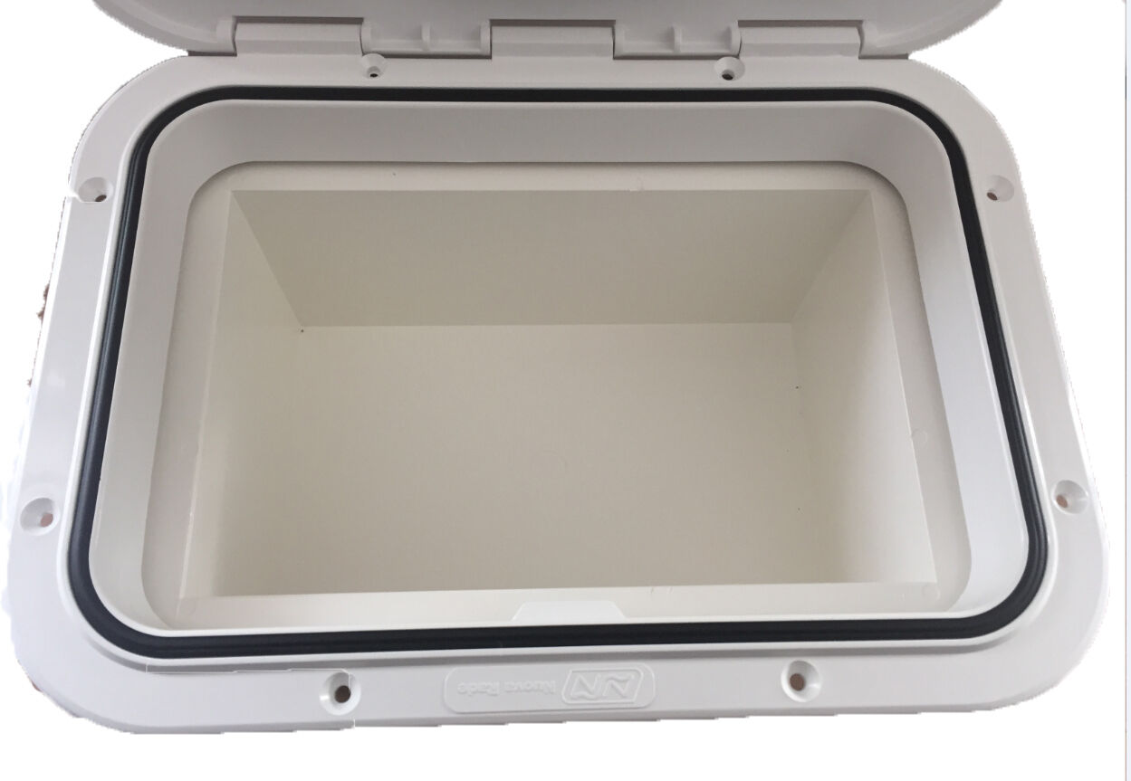 Access Hatch With Storage Box For Caravan Boat Rv White