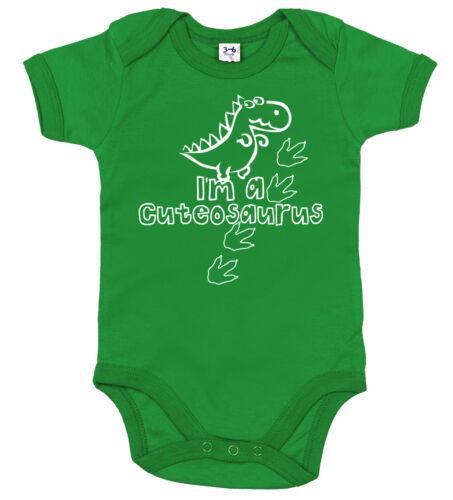 "Funny Dinosaur Bodysuit /""I/'m a Cuteosaurus/"" Cute Babygrow Newborn Gift"
