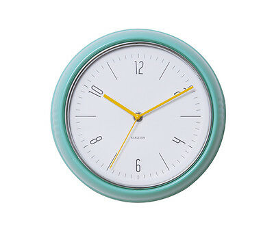 Karlsson Retro 1940's Style Wall Clock in Turquoise