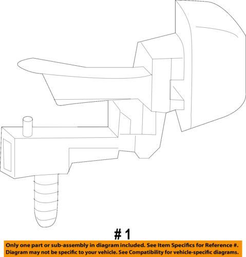 CHEVROLET TRAVERSE REAR LICENSE PLATE LIGHT 2009-2012 NEW OEM 22788117