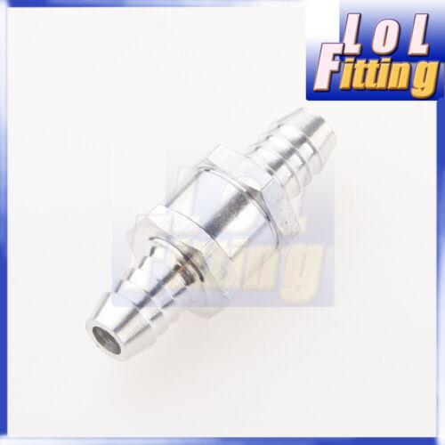 "6mm 1//4/"" Fuel Non Return One Way Check Valve Petrol Diesel Aluminium Alloy"