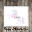 Card Frame ANY COLOUR Unicorn Personalised Word Art Print Birthday Friend Gift
