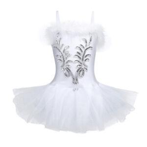 9e3ef6a45 Kid Girls Tutu Ballet Leotard Dance Dress Swan Ballerina Fairy ...