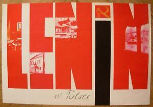 Original Polish political Poster LENIN revolution leader Communist propaganda