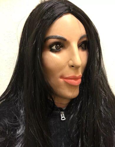 Deluxe Kim Kardashian Mask Full Head Kardashians TV Female Doll Fancy Dress