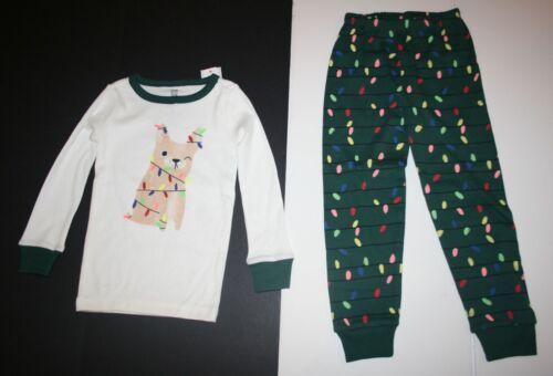 NEW Gymboree Holiday Pajamas Gymmies PJs 4 5 7 12 14 Puppy Dog Christmas Lights