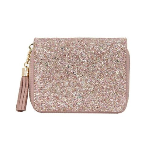 1PC New Women Wallet Lady Glitter Cash Purse Leather Credit Card Pouch Partable