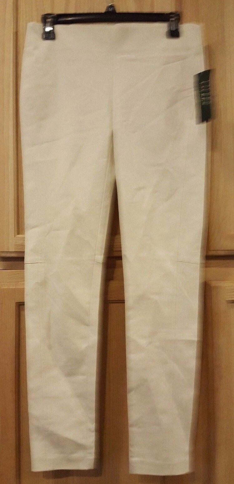 Ralph Lauren 200580983001 Modern Cream Bi-Stretch Cotton Twill Skinny Pants,