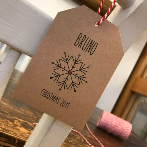 Rustic Christmas Dinner Name Cards Personalised Christmas Place Setting Tags