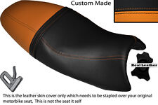 ORANGE & BLACK CUSTOM FITS TRIUMPH SPEED TRIPLE 08-10 1050 LEATHER SEAT COVER