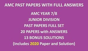 Year / Grade 7 and 8 Papers including 2020